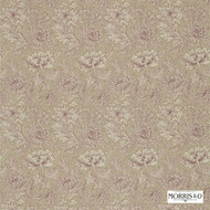 DMCOCH202 'DMCOCH202'   Curtain & Upholstery fabric - Fire Retardant, Art Noveau, Craftsman, Floral, Garden, Natural fibre, Pink - Purple, Tan - Taupe, Domestic Use