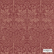 Morris and Co -  Brer Rabbit DMORBR101  | Wallpaper, Wallcovering - Fire Retardant, Red, Art Noveau, Craftsman, Damask, Eclectic, Traditional, Animals, Animals - Fauna, Domestic Use