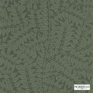 Morris and Co -  Branch 210374  | Wallpaper, Wallcovering - Fire Retardant, Green, Floral, Garden, Domestic Use