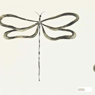 110247 'Dragonfly' | - Fire Retardant, Grey, Midcentury, Animals, Domestic Use, Animals - Fauna