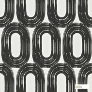 Scion Loop 110455  | Wallpaper, Wallcovering - Black - Charcoal, Geometric, Midcentury, Domestic Use