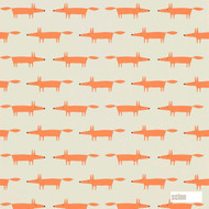 Scion Little Fox 111285  | Wallpaper, Wallcovering - Fire Retardant, Eclectic, Kids, Children, Midcentury, Animals, Animals - Fauna, Domestic Use