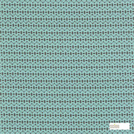 Scion Lace 120087  | Curtain & Upholstery fabric - Circlelink, Geometric, Midcentury, Natural Fibre, Small Scale, Turquoise, Teal, Domestic Use, Lattice, Trellis, Natural