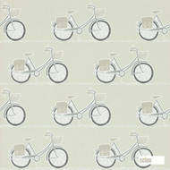 Scion Cykel 111103  | Wallpaper, Wallcovering - White, Kids, Children, Midcentury, Domestic Use, Print, White
