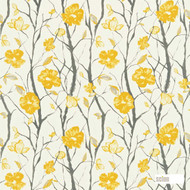 Scion Celandine 120055    Curtain Fabric - Gold,  Yellow, Farmhouse, Floral, Garden, Natural Fibre, Commercial Use, Domestic Use, Natural, Standard Width