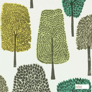 111083 'Cedar'   - Fire Retardant, Green, Floral, Garden, Midcentury, Many-Coloured, Commercial Use, Domestic Use