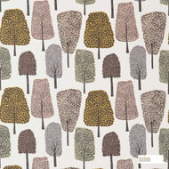 120357 'Cedar'   Curtain Fabric - Brown, Fire Retardant, Floral, Garden, Midcentury, Natural fibre, Many-Coloured, Commercial Use, Domestic Use, Natural, FR Treatable