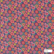120447 ''   Curtain & Upholstery fabric - Fire Retardant, Eclectic, Floral, Garden, Midcentury, Natural fibre, Kids, Children, Many-Coloured, Pink - Purple, Domestic Use