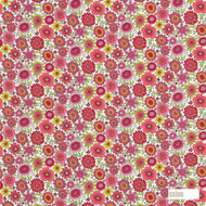 120448 '' | Curtain & Upholstery fabric - Fire Retardant, Red, Floral, Garden, Midcentury, Natural fibre, Red, Kids, Children, Many-Coloured, Pink - Purple, Domestic Use