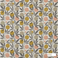 Scion Blomma 120359  | Curtain Fabric - Fire Retardant, Floral, Garden, Multi-Coloured, Midcentury, Natural fibre, Commercial Use, Domestic Use, FR Treatable, Kitchen, Natural