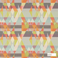 131141 ''   Curtain Fabric - Fire Retardant, Eclectic, Geometric, Midcentury, Many-Coloured, Abstract, Domestic Use, Suitable for Blinds, FR Treatable