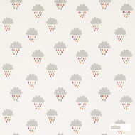 Scion April Showers 131659  | Curtain Fabric - Grey, Kids, Children, Midcentury, Natural Fibre, Domestic Use, Natural, Print, Standard Width