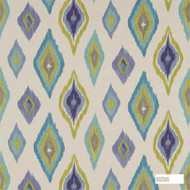 120302 '' | Curtain Fabric - Fire Retardant, Green, Geometric, Ikat, Kilim, Mediterranean, Natural fibre, Many-Coloured, Domestic Use, Natural, Suitable for Blinds