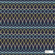 Scion Ada 131198  | Curtain Fabric - Blue, Fire Retardant, Eclectic, Fiber blend, Geometric, Midcentury, Abstract, Commercial Use, Domestic Use, FR Treatable, Suitable for Blinds