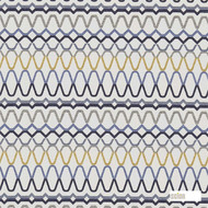 Scion Ada 131199  | Curtain Fabric - Blue, Fire Retardant, Gold,  Yellow, Eclectic, Fiber blend, Geometric, Midcentury, Abstract, Commercial Use, Domestic Use, FR Treatable, Suitable for Blinds