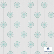 Sanderson Tambourine 214754  | Wallpaper, Wallcovering - Foulard, Geometric, Midcentury, Commercial Use, Dots, Spots, Circles, Stars