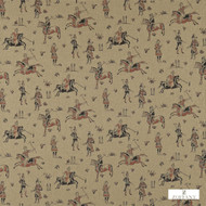 331654 '' | Upholstery Fabric - Brown, Fire Retardant, Fiber blend, Mediterranean, Toile de Jouy, Toile, Traditional, Commercial Use, Domestic Use