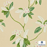 Sanderson Oleander 212130  | Wallpaper, Wallcovering - Gold,  Yellow, Floral, Garden, Commercial Use
