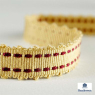 232199 '' | Gimps & Braids, Curtain & Upholstery Trim - Gold - Yellow, Synthetic fibre, Traditional, Washable, Commercial Use
