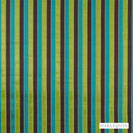 Harlequin Plush 4427  | Upholstery Fabric - Fire Retardant, Green, Eclectic, Fiber blend, Harlequin, Multi-Coloured, Stripe, Commercial Use, Domestic Use, FR Treatable