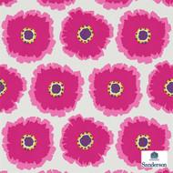 Sanderson Papavera 214747  | Wallpaper, Wallcovering - Fire Retardant, Floral, Garden, Midcentury, Many-Coloured, Pink - Purple, Commercial Use