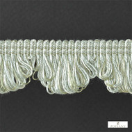 Zoffany Fan Edge 331519  | Fringe, Curtain & Upholstery Trim - Green, Synthetic fibre, Traditional, Washable, Commercial Use