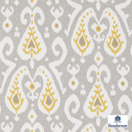215440 'Java' | - Fire Retardant, Gold - Yellow, Grey, Ikat, Kilim, Mediterranean, Commercial Use