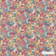 Harlequin Florica 120273  | Upholstery Fabric - Fire Retardant, Craftsman, Floral, Garden, Harlequin, Jacobean, Multi-Coloured, Natural fibre, Pink, Purple, Traditional, Commercial Use