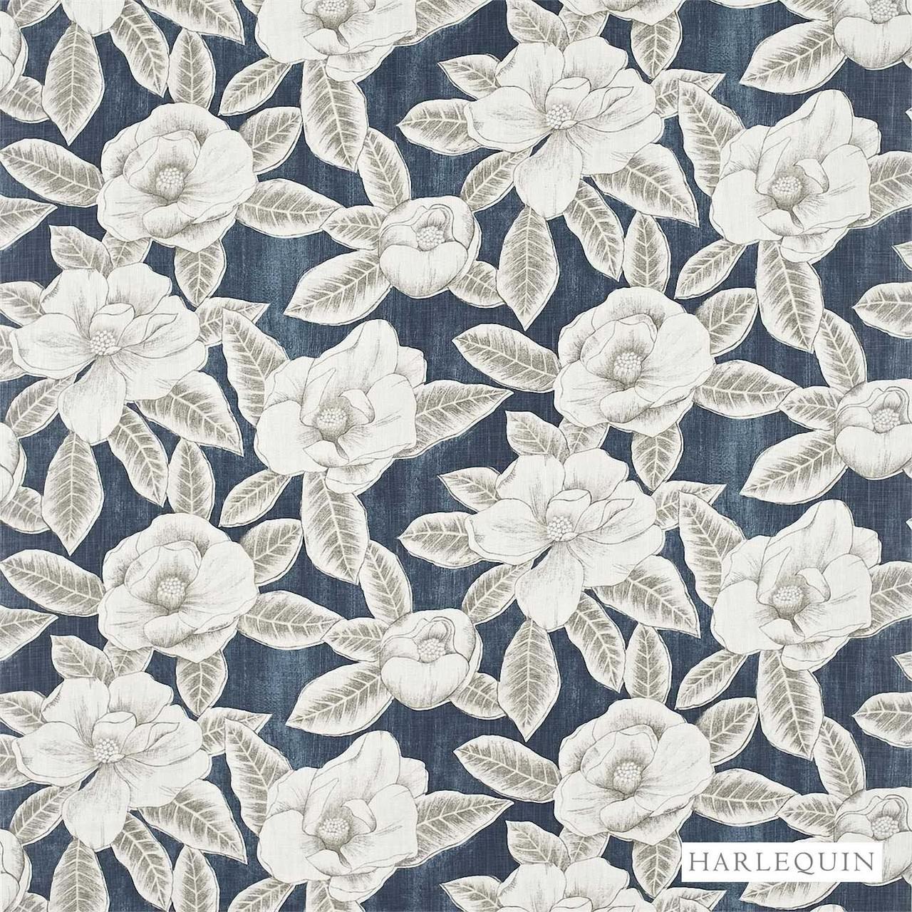 Harlequin Floria 120242  | Upholstery Fabric - Blue, Contemporary, Fibre Blends, Floral, Garden, Harlequin, Commercial Use, Domestic Use, Standard Width