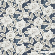 Harlequin Floria 120242  | Upholstery Fabric - Blue, Fire Retardant, Fiber blend, Floral, Garden, Harlequin, Commercial Use, Domestic Use, FR Treatable