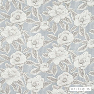 Harlequin Floria 120243  | Upholstery Fabric - Grey, Contemporary, Fibre Blends, Floral, Garden, Harlequin, Commercial Use, Domestic Use, Standard Width