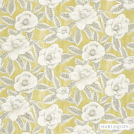 Harlequin Floria 120244  | Upholstery Fabric - Gold,  Yellow, Contemporary, Fibre Blends, Floral, Garden, Harlequin, Commercial Use, Domestic Use, Standard Width