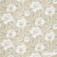 Harlequin Floria 120245  | Upholstery Fabric - Beige, Fibre Blends, Floral, Garden, Harlequin, Tan, Taupe, Transitional, Commercial Use, Domestic Use, Standard Width