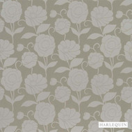 5104 '' | - Fire Retardant, Grey, Floral, Garden, Harlequin, Synthetic fibre, Transitional, Tan - Taupe, Commercial Use
