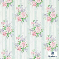214583 'Rose' | - Fire Retardant, Craftsman, Eclectic, Floral, Garden, Stripe, Many-Coloured, Pink - Purple, Commercial Use