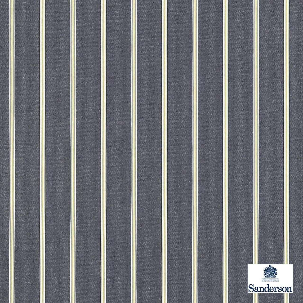 Sanderson Annis 232650    Upholstery Fabric - Black - Charcoal, Fibre Blends, Stripe, Traditional, Commercial Use, Domestic Use, Standard Width