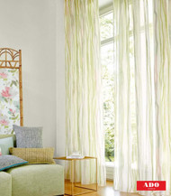 Uf_0092 '8121/132' | Curtain Sheer Fabric - Green, Stripe, Synthetic fibre