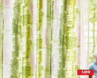 Uf_0147 '2562/131' | Curtain Sheer Fabric - Green, Stripe, Synthetic fibre