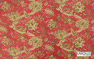 Uf_0186 'Chiffon' | Curtain & Upholstery fabric - Red, Floral, Garden, Natural fibre, Red, Domestic Use, Natural