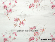 Zimmer and Rohde Casual & Natural Chic   Carlista  - 10599/183  | Curtain Fabric - Farmhouse, Floral, Garden, Synthetic fibre, Pink - Purple