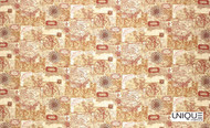 Uf_0401 'Parchment'   Curtain & Upholstery fabric - Brown, Midcentury, Natural fibre, Many-Coloured, Domestic Use, Natural