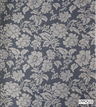 Uf_0604 'Charcoal' | Curtain & Upholstery fabric - Grey, Floral, Garden, Natural fibre, Domestic Use, Natural