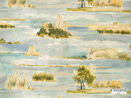 Etamine Optimiste Estuaire - 19479/493  | Curtain & Upholstery fabric - Gold,  Yellow, Natural Fibre, Toile, Domestic Use, Natural, Standard Width