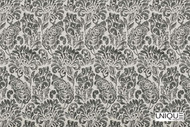 Unique Fabrics Bonheur Jolie - Blanc  | Curtain & Upholstery fabric - Grey, Craftsman, Damask, Natural Fibre, Traditional, Domestic Use, Natural, Standard Width