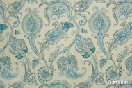 Uf_1357 '44091/565' | Curtain Fabric - Blue, Craftsman, Fiber blend, Floral, Garden, Jacobean, Paisley, Traditional