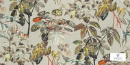 Uf_1442 'CA1232/030' | Curtain Fabric - Brown, White, Contemporary, Craftsman, Floral, Garden, Natural fibre, Tropical, White, Natural
