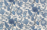 Uf_1562 'New' | Curtain & Upholstery fabric - Blue, Floral, Garden, Natural fibre, Natural