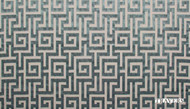 Travers Yorkshire   Moncello  - 44099/695  | Curtain & Upholstery fabric - Blue, Natural fibre, Traditional, Domestic Use, Fret, Greek Key, Natural