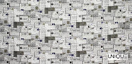 Uf_1837 'Ink'   Curtain & Upholstery fabric - Grey, Midcentury, Natural fibre, Domestic Use, Natural