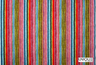 Unique Fabrics Power Stripe - Ivory    Curtain & Upholstery fabric - White, Eclectic, Natural Fibre, Pink, Purple, Stripe, Domestic Use, Natural, White, Standard Width